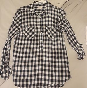 Navy checkered flannel from target